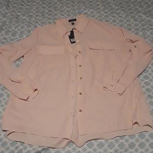 Blush pink blouse M